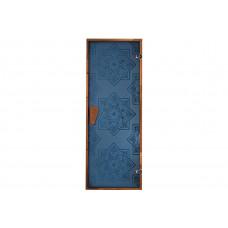 Дверь для сауны и хаммама Сезам Blue 1900х700