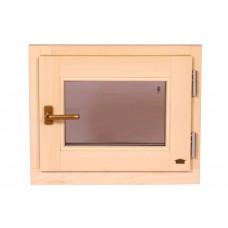 Окно для сауны поворотное 600*500