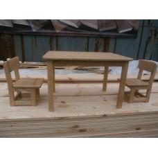 Детский столик и два стульчика из ясеня